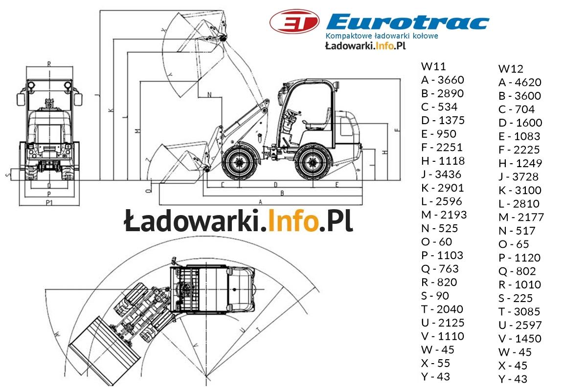 Eurotrac W11 i W12 - WYMIARY - logo