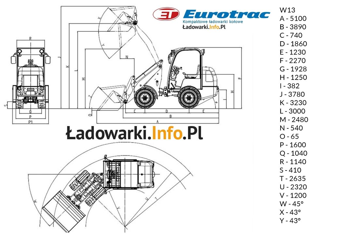 Eurotrac -W13 - wymiary