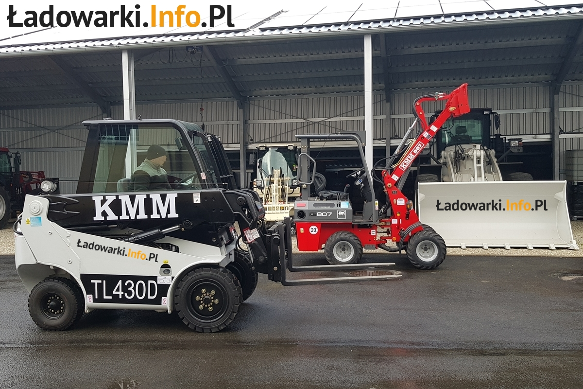 Teleskopowy wózek widłowy KMM T430D i 809 - FOT 2L