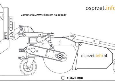 Zamiatarka ZMW - wymiary - 1L